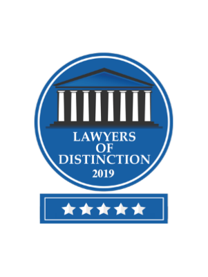 Awarded 2019 Lawyers of Distinction